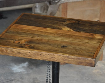 Handmade Reclaimed Rustic Solid Wood Bar, Coffee Table Top, Rustic Pub,  Coffee Shop Table Top For Home Restaurant