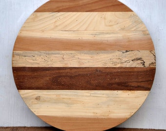 Handmade Rustic Solid Reclaimed Wood Round Table Top