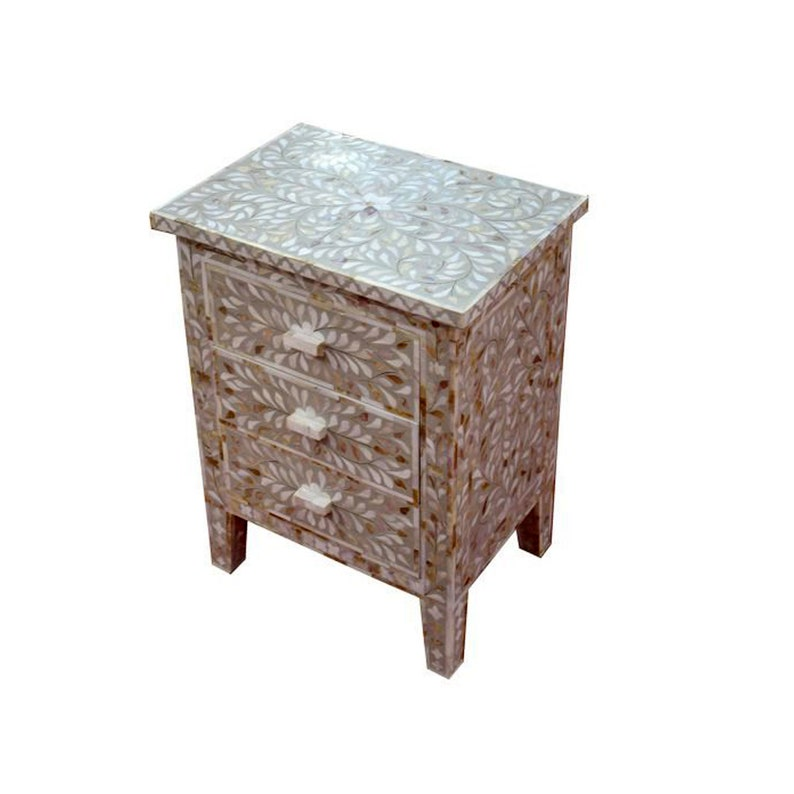 Rajwadi-Mother-of-Pearl-Inlay-Bedside-Nightstand-Side-Table
