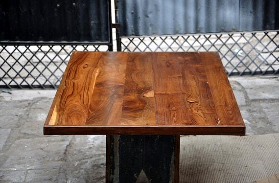 Reclaimed Solid Old Teak Wood 30x48 Table Top Restaurant Chik Bar Handmade