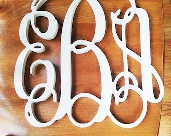 sale 24 inch wooden monogram letters unpainted wedding decor home decor