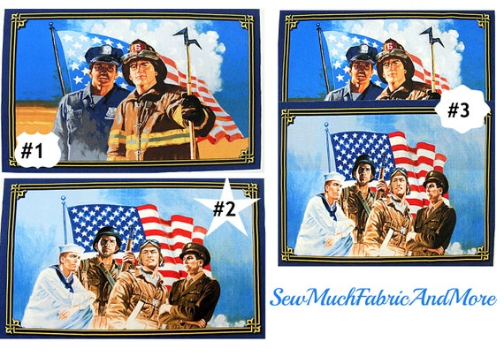 "1  Windham /""American Heroes/"" Fabric Panel 23/"" x 44/"""
