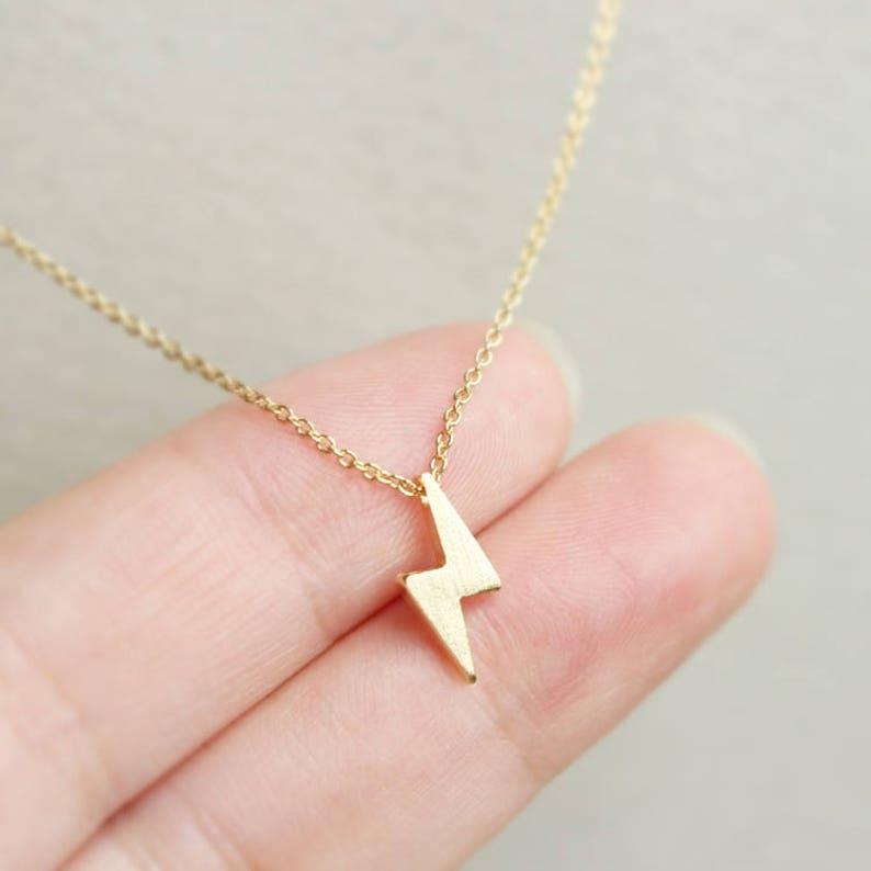 tiny Everyday necklace The flash gift Bridesmaid jewelry minimal Wedding necklace Thunder necklace Tiny Lightning necklace