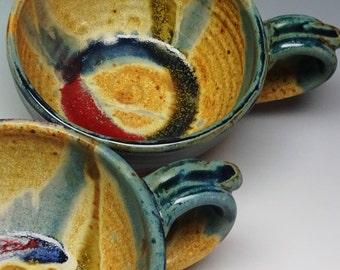 1 Soup Bowl, Blue bowl, Blue mug, Soup Mug, Soup Bowl,  Ayers Pottery, Pottery Bowl, Handmade Pottery, Stoneware Bowl