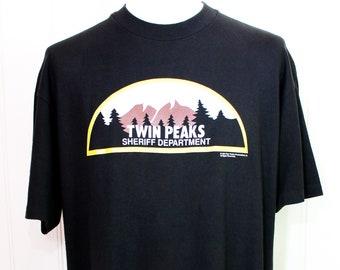 1990 Twin Peaks Vintage Single Stitch Original TV Series David Lynch Cult Classic 90s Movie Merch T Shirt Sci-Fi Horror XL