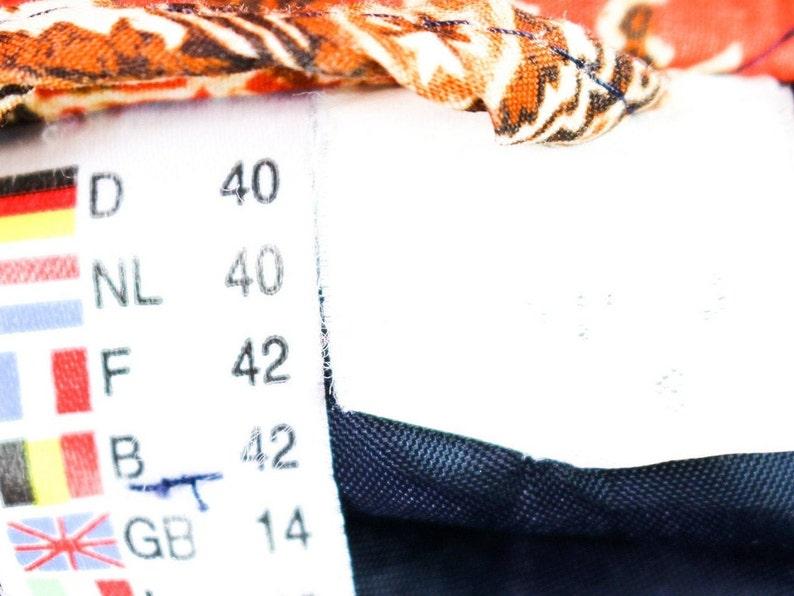 1970/'s Floral Earth Tone Patchwork Design Bohemian Hippie Psychedelic Tiki Western Prairie Grunge Vintage Jacket Coat Unisex Adult Large