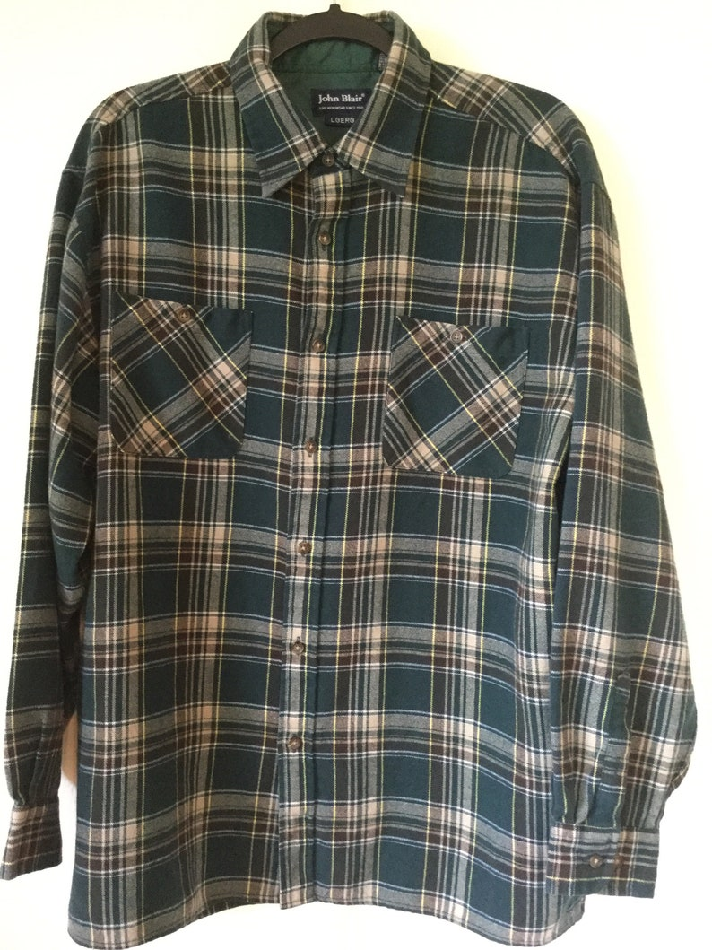 d4f9162de5d1 1990s Plaid Flannel Large Vintage Earth Tones Supreme 90s | Etsy