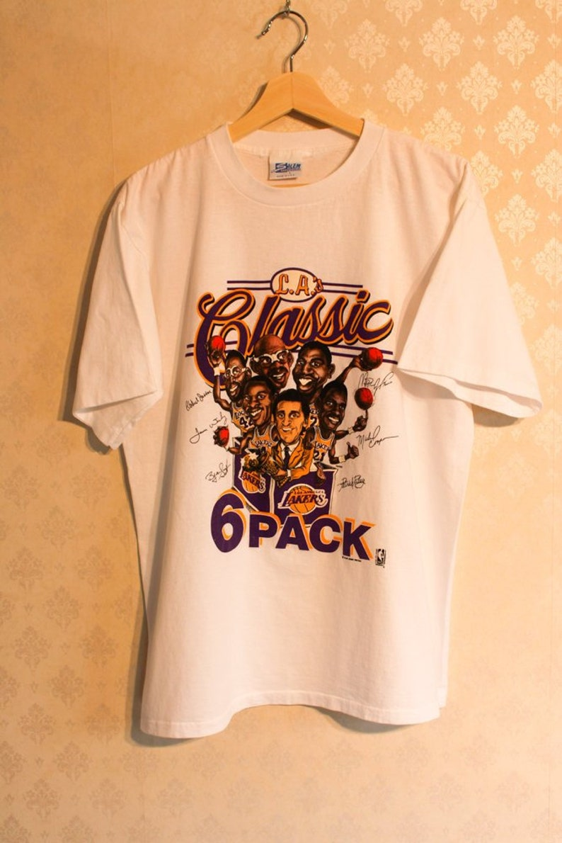 9521d388 1980's LA Lakers Classic 6 Pack Shirt Deadstock Large NBA | Etsy