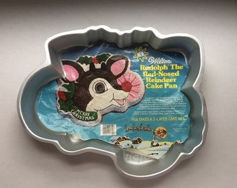 1981-Wilton Rudolph The Red-Nosed Reindeer Cake Pan