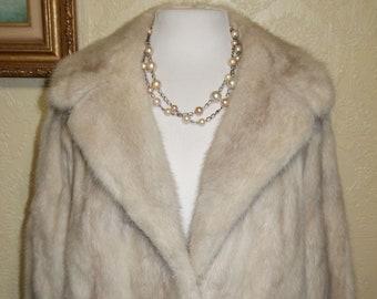 3d4068574bee m21 sale 100.00 off...beautiful Tourmaline EMBA natural pale beige MINK  COAT size 14 Mink Coat Stroller Length