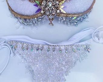 f6f54e103fcb1 White Gold Crystal Rhinestone Outfit