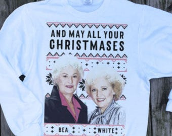 golden girls golden girls xmas holiday sweatshirt christmas jumper pullover sweater ugly christmas sweater tacky sweatshirt for her