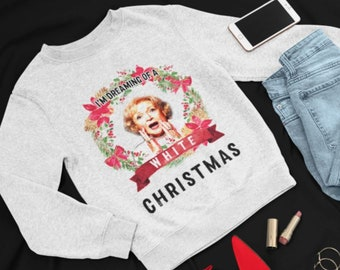 Parody Sweatshirt I'm dreaming of a white christmas - Unisex pullover jumper ugly christmas sweater unisex / mens / kids