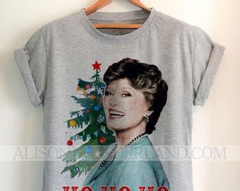 Golden Girls Christmas T-Shirt - Ho Ho Ho Blanche - Holiday Tee, Christmas party, Shirt, womens / mens tee/tank, grey or white