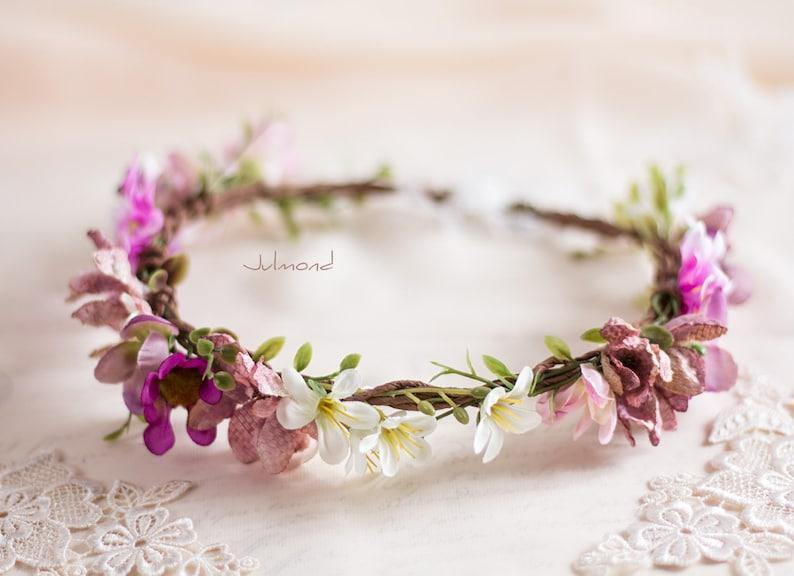Headdress hair accessories with flowers flower wreath for bride for wedding or Oktoberfest
