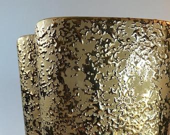 Weeping Gold Ceramic Vase