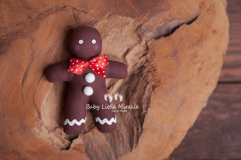 Baby shower gift Newborn photo prop Gingerbread man photo prop Christmas photo prop Photography prop Newborn toy Christmas Cookie