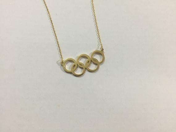 migliore qualità anteprima di Stati Uniti sporchi online Argento 925 anelli olimpici cinque collana Olympic 5 anello | Etsy