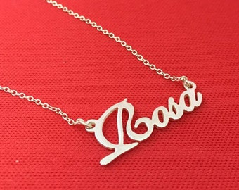 Rosa Style Sterling Silver Name Necklace Initials Personalized Jewelry Customized Necklace Mother's gigt