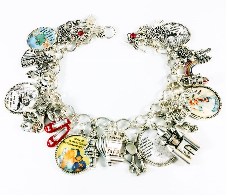 Wizard of oz charm bracelet once upon a time charm bracelet image 0