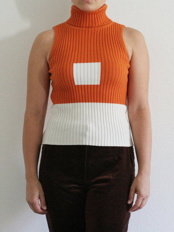 90s TOMMY HILFIGER color block ribbed sleeveless t