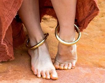 Gold ankle bracelet - foot rush bracelet - brass boho bracelets