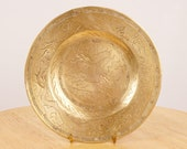 X118 cm Handmade Dish plate small tray Vintage Solid Brass Handmade engraved Dragon design Chinese dragon plate Made in China