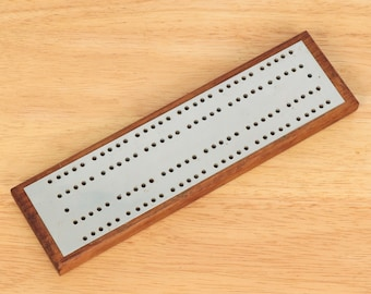 Vintage Points Counter Crib Player Gift Card Game Brass Cribbage Board Score Keeper