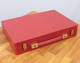 Vintage wood case || red