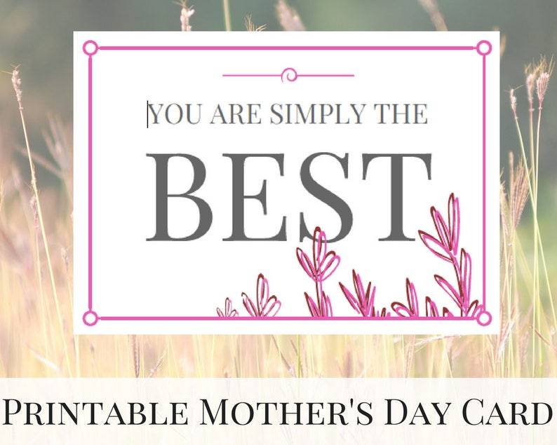 photo about Mother's Day Printable Card called Moms Working day Card, Printable Card Adorable, Moms Working day Printable, Moms Working day Card Lovely, Moms Working day versus Daughter, Moms Working day Thank By yourself