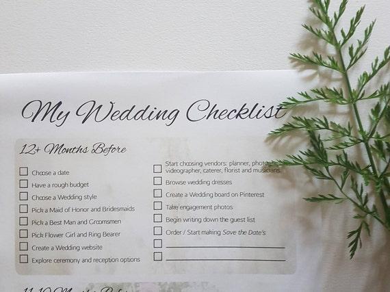 Wedding Checklist, Printable Wedding Checklist, Printable Wedding Planner,  Wedding Printables, Wedding Planning, Wedding Planning Checklist