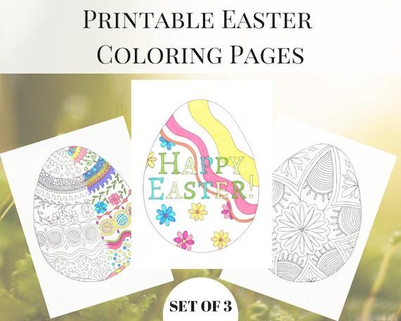 Imprimibles de Pascua Pascua dibujos para colorear | Etsy