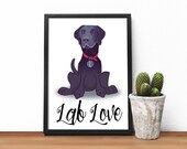 Labrador print, Lab love,...