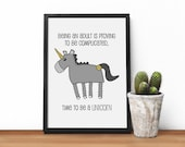 Unicorn Print, Unicorn gi...