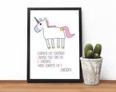 Unicorn Print, 'Alway...