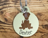 Labrador Dog name tag, cu...