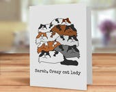 Crazy cat lady card, Cat ...