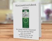 Funny Gin in a tin card, ...