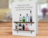 Gin new home card, gin ho...