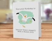 Seagull Birthday card, Ho...