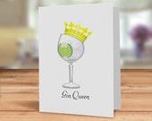 Gin Queen card, Gin card ...