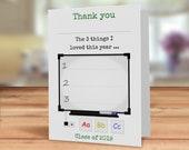 Teacher thank you card, P...