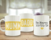 Mummy and Daddy mugs, new...
