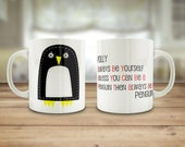 Penguin mug, Personalised...