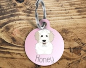 Cavachon Dog name tag, cu...