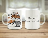 Cat mug, Crazy cat lady m...