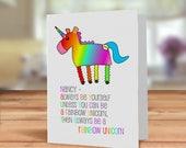 Rainbow Unicorn card, Alw...