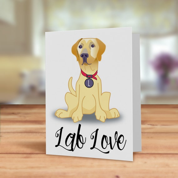 Labrador Puppy Dogs Personalised Birthday Greetings Card