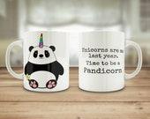 Panda mug, Pandicorn mug,...