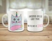 Cat mug, unicat mug, 10oz...